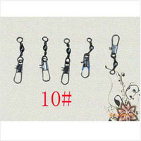Wholesale 6 Fishing Crane Swivel With Duo Lock Snap Duolock Snape Fishing Hooks Size for choose