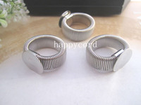 Wholesale Mixed color retractable Ring Blanks rings Pad mm silver gold and bronze three color pc