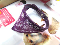 Chirstmas Leather Collars wholesale 1.0*30cm Small Adjustable Pet Dog Cat Bandana Scarf Collar Neckerchief 24 pcs lot