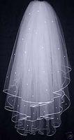 Free shipping New Wedding Veil Bridal Veil three storeys tul...