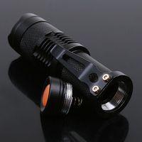 Wholesale 2015 New w lm Linternas Mini Flashlight Adjustable Focus Zoom Torch Lanterna Q5 LED Light Lamp