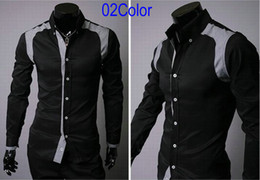 Wholesale Men s Korea Casual Slim Fit Sexy Stylish Shirts Long Sleeve Cotton Shirt C4865 Color