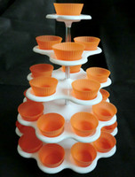 Wholesale 2Sets Count Tier CUPCAKE DESSERT HOLDER STAND Cake Muffin Silicon Cake Cup