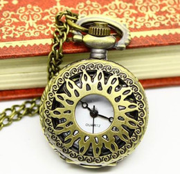 Unisex Antique Hollow Round Mens Pocket Watch Women's Necklace Pocket Watches