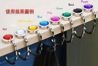 Wholesale Fashion Crystal Mirror Folding Bag Hook Purse Hook Handbag Hanger Holder Mix Order