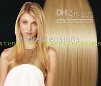 Wholesale 20 quot x32 quot REMY HUMAN HAIR CLIP IN EXTENSION HAIR EXTENSIONS mediun blonde sets mix color