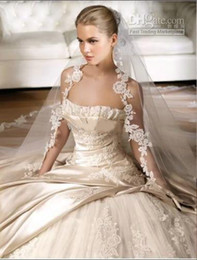 Wholesale 2012 New style stain strapless lace beading ball gown wedding dresses prom gowns bridal gown