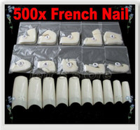 Half Natural Tips Oval Nail Tips 500 Natural White Half Tips Design Artificial French Acrylic Style False Nail Art Tips Free Shippin