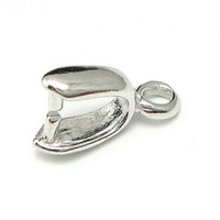Wholesale 10pcs Sterling Silver Pinch Clip Clasp For Pendant DIY Craft Jewelry x9mm WP199