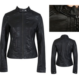 Wholesale 2013 new fashion women black jackets biker faux leather jacket plus size fashion brand jacket dropship