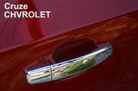 Door aluminum door handles - Excellent New Chrome Door Handle Covers car sticker for Chevrolet Cruze easy to installation