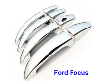 Wholesale For Ford Focus Excellent set Chrome Plating Door Handle Covers Car Sticker car styling Door Handle Chrome Sticker