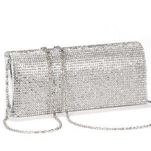 Pu Crystal Diamante Clutch Bag Purse Evening Bag Designer Bags ...