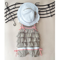 Wholesale cute baby sets baby outfits baby set girls hat baby suits baby dress baby cap baby rompers CL258