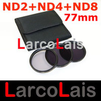 Wholesale 77mm Neutral Density ND2 ND4 ND8 Camera Lens Filter With Pocket Case mm ND for DSLR Camera