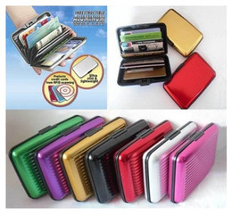 Wholesale New Fashion Credit ID Card Holders or Wallet Made by Aluminium and Plastic with Multi colors Selections Hard Surface LK2347