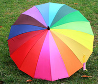 Hot Selling! Novelty Japan colorful Rainbow Umbrella Sun Rai...