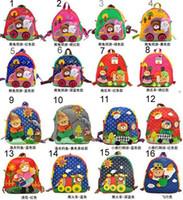 Boy baby knapsack - New baby straw hat people bags manual cloth bag kid s schoolbag backpack knapsack decompress bag