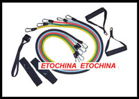 Wholesale 50Set New Design Latex Resistance bands Elastic band exercise band set resistance band