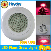 Wholesale hydroponic lamp V red blue orange Watts UFO triband LED plant active grow light W