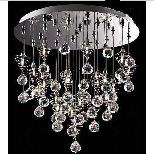 Crystal Chandelier Modern Lamp Glass Ball Lamp Hanging Lampdy1020 – Crystal Chandelier for Girls Room