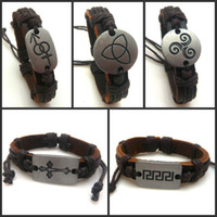 Wholesale Wrap Leather Bracelets NEW Leather Bracelet Jewelry Charms Bracelets For Men Designs Mixed
