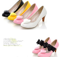 Wholesale Cheap NEWEST womens fashion sexy heels more Wear bow Love bridal dress wedding shoes size US