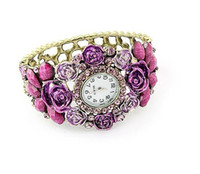 Wholesale 12pcs new XMS rolly vintage colorful jewelry watch bracelet Fashion lady bangle