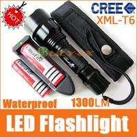 Wholesale UltraFire C8 led Flashlights Lm CREE XM L LED modes Waterproof x18650 Battery Charge Bag