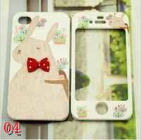 Wholesale South Korea happymori iphone4s following apple apple S cover double sided