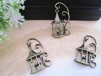 antique bird cages - Antique bronze bird cage charm mmx34mm jewelry accessories