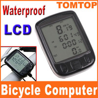 Wholesale 24 Functions Waterproof LCD Cycling Bike Bicycle Computer Odometer Speedometer clock H8244