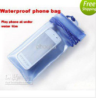 Wholesale HOT M PVC waterproof bag for iphone4s cell phone