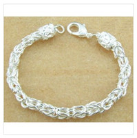 Wholesale 5pcs Silver filled classical Bali cable chain bracelets low price for resellers LK2094