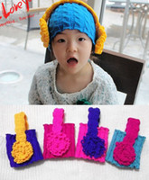 Wholesale Baby hats girl hats Headphone headband caps boys hats candy color Children s Caps Hats