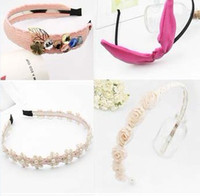 Wholesale Mixed batch fashion pink cloth hair bands hairbands headbands hair accessories