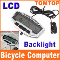 Wholesale 28 Functions Waterproof Digital LCD Bike Bicycle Computer Odometer Speedometer Velometer Backlight H8247
