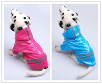 Wholesale New Pet Dog Rain Coat Hoodie Hooded Raincoat Clothes Apparel Size S M L