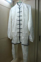 Wholesale beautiful white taichi kungfu suit
