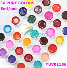 Wholesale 36 Pots Cover Pure Colors UV Gel for UV Nail Art Tips Extension Decoration UV01156