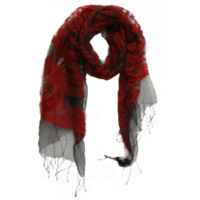 Wholesale silk wool blended scarf high quality designer brand red color soft feeling mix order