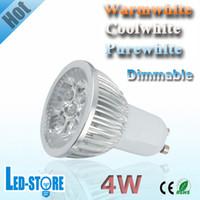 Wholesale 20x GU10 W Dimmable V V High Power LED Light LED Bulb Lamp LED Spotlight LED Downlight
