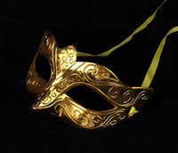Bauta Mask balls film - on sale party mask Gold plating venetian masquerade Mask half face ball decoration carnival wedding supply novelty gift on sale
