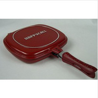 Wholesale Retail happycall happy call fry pan non stick pan double side grill fry pan hot sale in Singpore