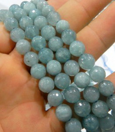 Wholesale 4mm mm mm mm Aquamarine Gemstone Round Loose Beads inch