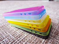 Wholesale Thinnest Slice Ultrathin mm Protective Sillicone Case Cover Skin for iPhone S S Samsung Galaxy S5 i9600 Note Note3 Mix Color