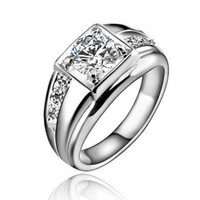 Wholesale Mens eight heart eight arrow zirconium diamond ring male