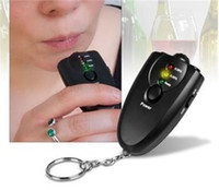 Key Chain alcohol breathalyzer keychain - 120pcs MIni Keychain accurate breath alcohol tester breathalyzer flashlight H37 black colored LED