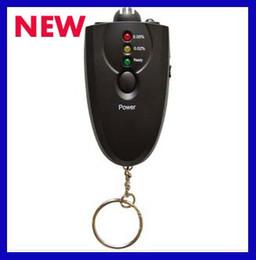 Alcool trousseau en Ligne-Hot vente MIni Keychain précise alcool dans l'haleine testeur alcootest lampe de poche LED de couleur noire H37