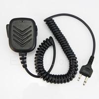 Civilian radio icom walkie talkie - 2 pins Handheld Speaker Mic for Walkie Talkie ICOM F3 F3S F4 F11 V8TH7 T22A Radio J0158A